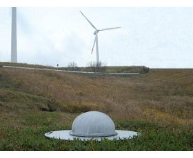 風力発電設置風景